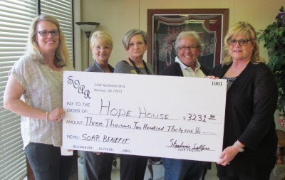 Hope House Check Presentation